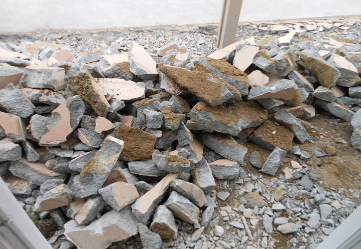 betontörés